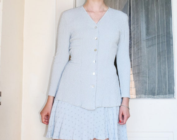 Powder Blue Long Sleeve Dress