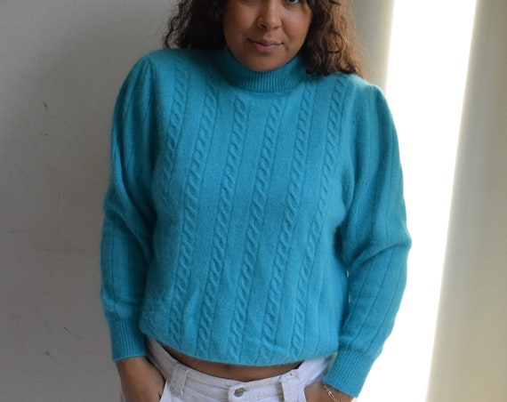 Angora Teal Sweater