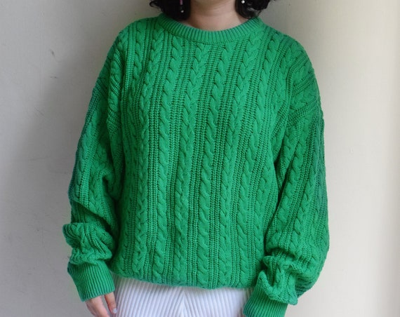Dior Kelly Green Cable Knit Sweater