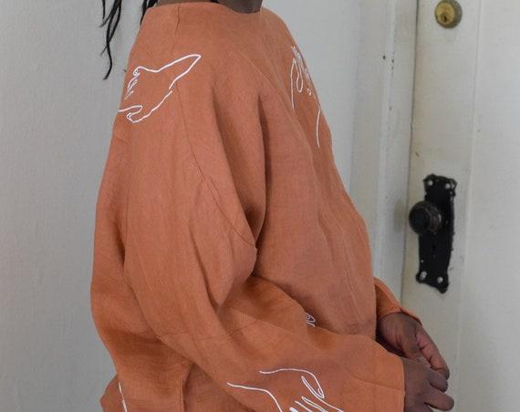 Paloma Pumpkin Linen Long Sleeve
