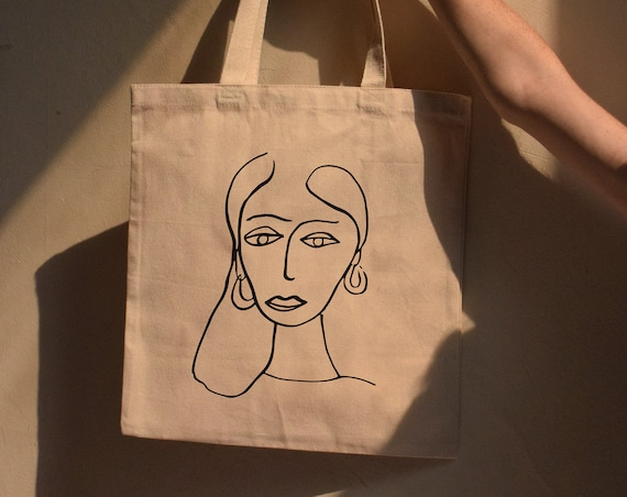 Paola Cotton Canvas Tote Bag |  Multiple Color Options