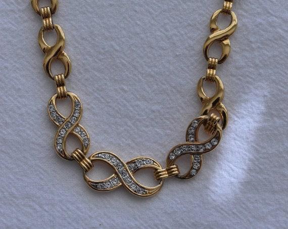 Gold Rhinestone Infinity Chain