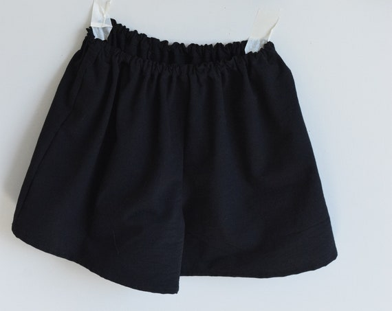 Black Cotton House Short