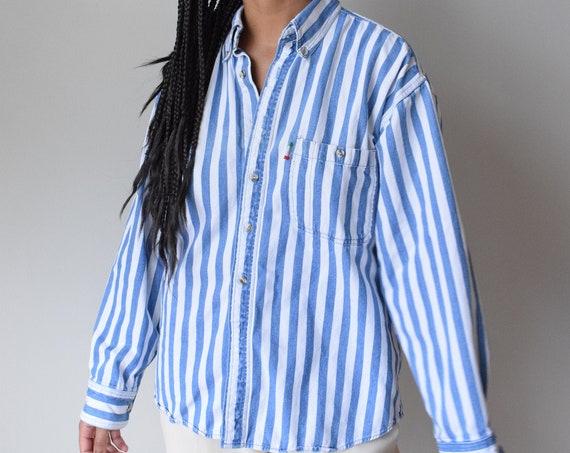 Denim Pinstripe Chore Shirt