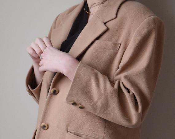 Tan Cashmere Wool Blend Blazer