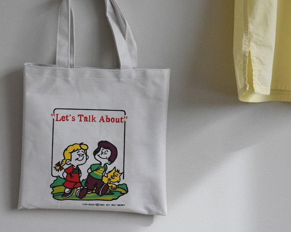 Vintage Lets Talk About Tote Bag