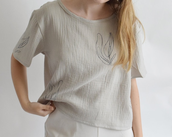 Lilja Pearl Grey Cotton Tee
