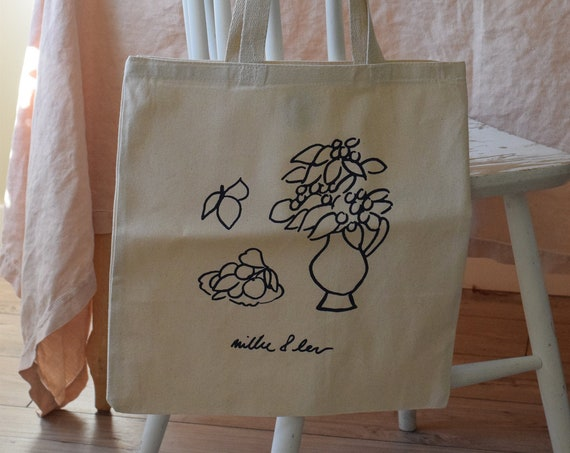 Laura Canvas Tote Bag     Multiple Color Options