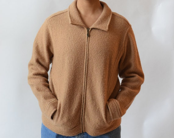 Walnut Wool Crop Jacket