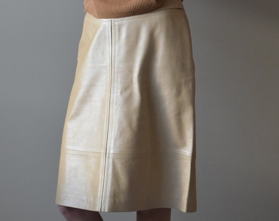 Escada Pearl Leather Skirt