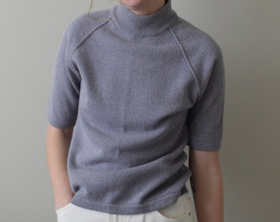 Lilac Lambswool Mock Neck