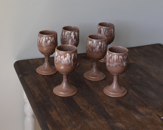 Ceramic Wine Glasses - Set of Two