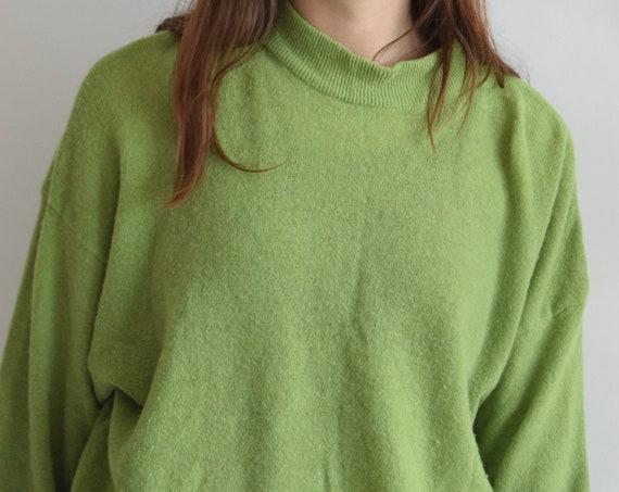 Pear Green Lambswool Sweater