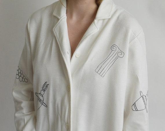 Roma White Cotton Jersey Shirt