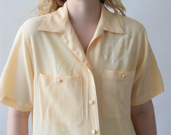 Clementine Buttermilk Cream Short Sleeve Shirt