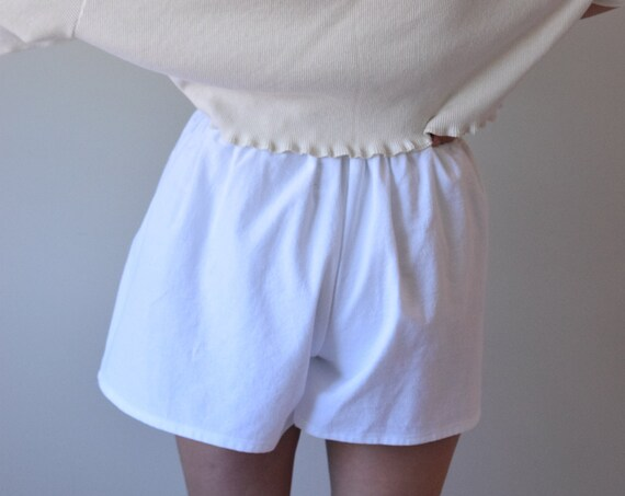 White Cotton House Short