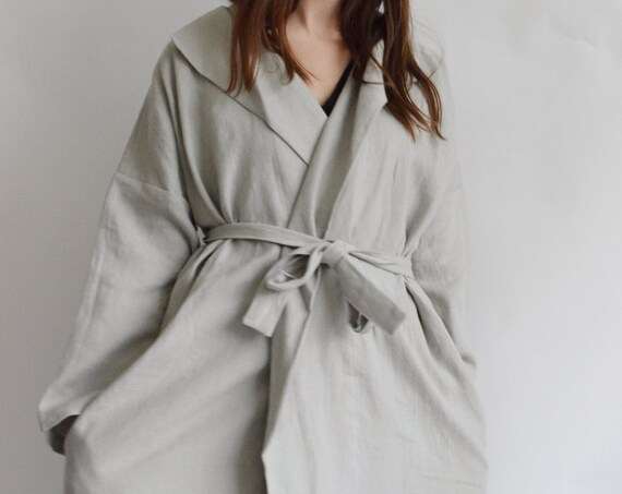 Linen Ladder Dove Grey Charlie Trench