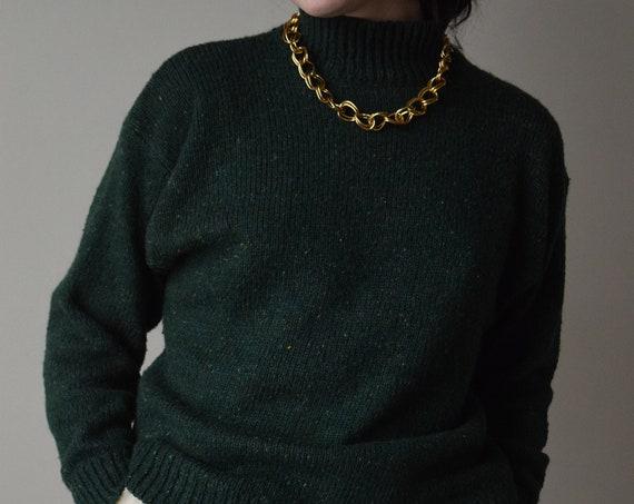 Forrest Green Fisherman Sweater
