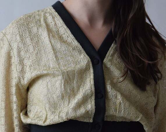 Black and Gold Cardigan