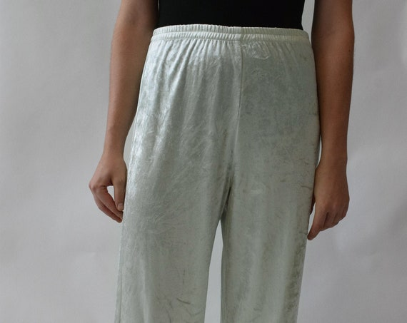Mint Green Velvet Lounge Pant