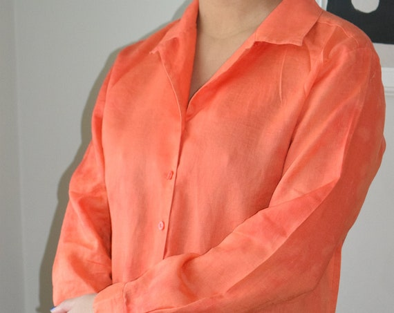 Reworked Orange Tie Dye Blouse