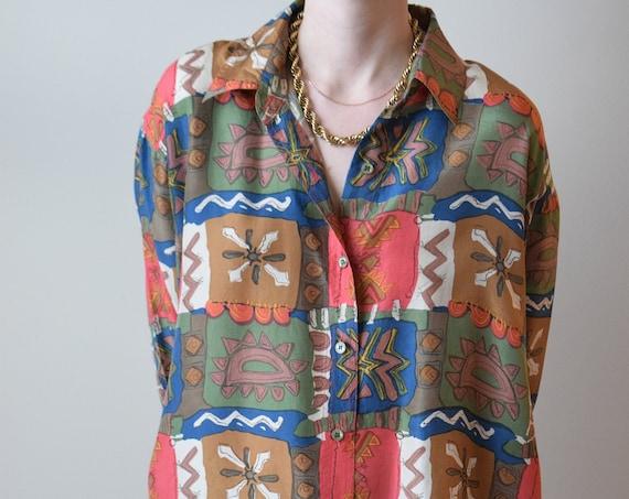 80's Silk Blouse