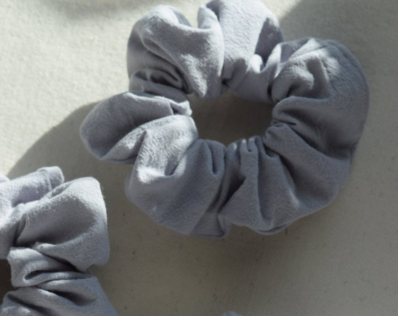 Chambray Cotton Hair Scrunchies