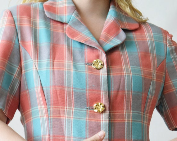 Mulit - Coloured Plaid Waist Coat