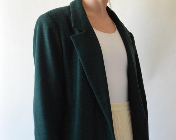 Forrest Green Cashmere Blend Coat