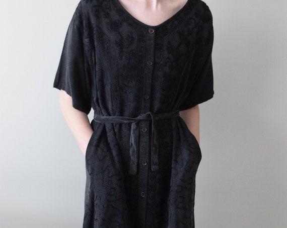 Black Applique Market Dress