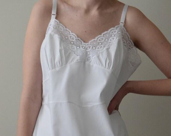 White Cotton Slip Dress