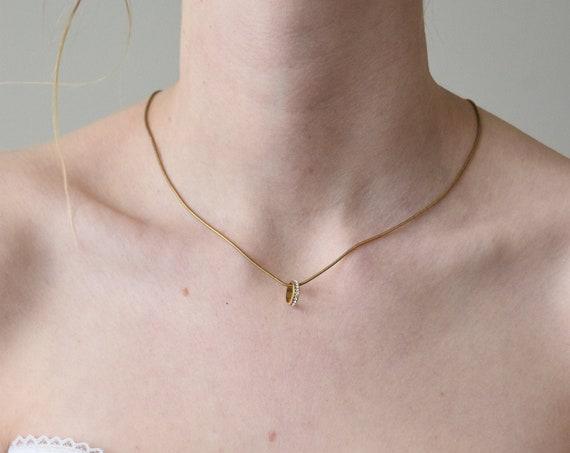 Rhinestone Hoop Necklace