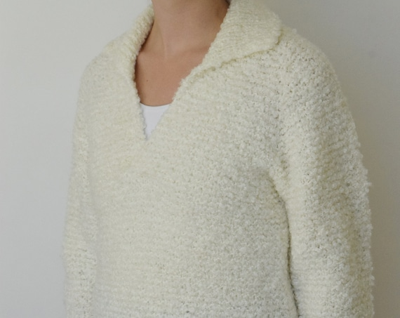 Ivory Shag Rowing Sweater