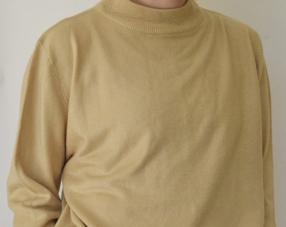 Tan Mock Neck Pullover