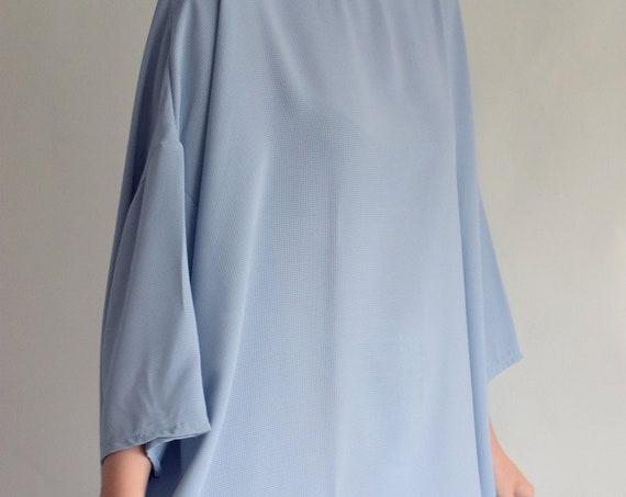 Baby Blue Trapeze Dress  |  Print Optional