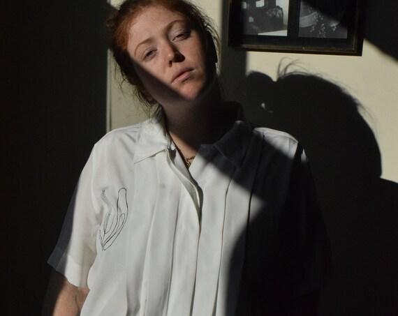 Lilja White Pleated Reworked Blouse
