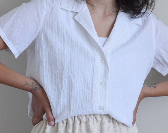 Sunday White Button Down