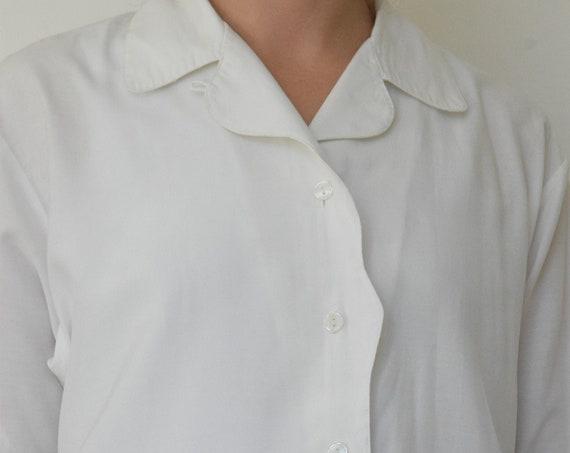 White Scalloped Short Sleeve   |   Print Optional