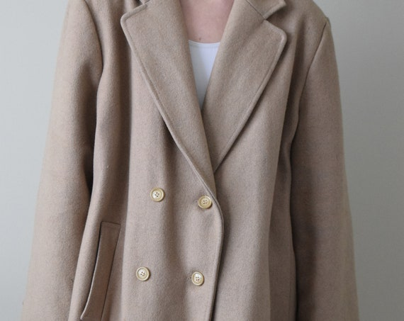 Wool Camel Over Coat