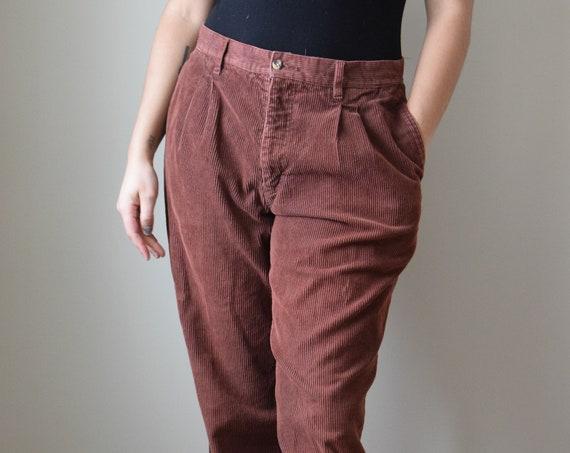 Chestnut Corduroy Trousers