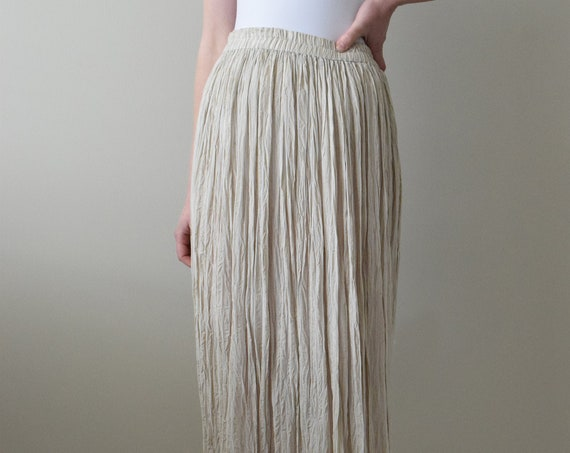 Sheer Linen Pinstripe Beach Skirt
