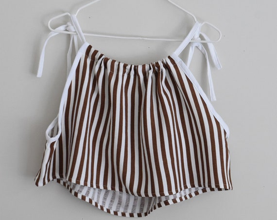 Sawyer Pinstripe Crop Top