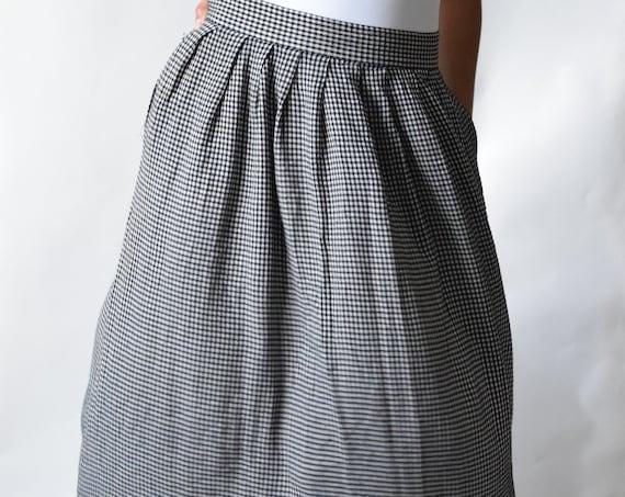 Black and White Checkered Skirt