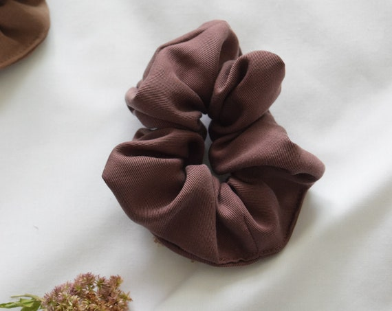 Plum Tencel Hair Scrunchie