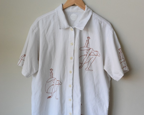 Mara B White Short Sleeve Shirt *MISPRINT