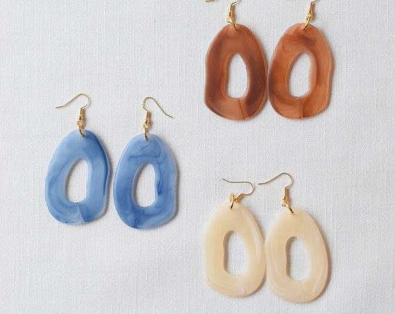 Ripple Acetate Earrings