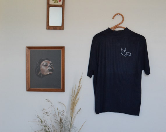 Moira Navy Mock Next Tee Misprint