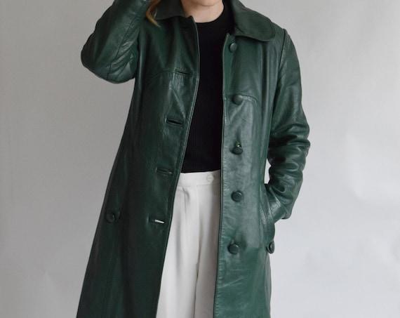 Jeno De Paris 70s Leather Trench