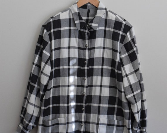 Black Plaid Chore Shirt