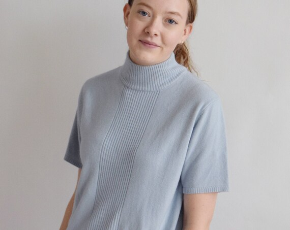 Baby Blue Turtleneck Tee